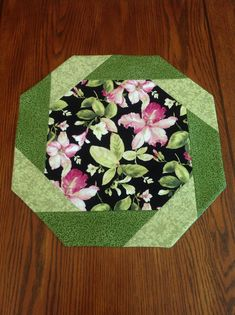 Pink Summer Blooms Table Topper by AlidanCreations on Etsy,