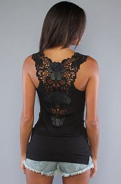 Love the lace tank