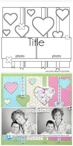 Scrapbook Page Layout Idea