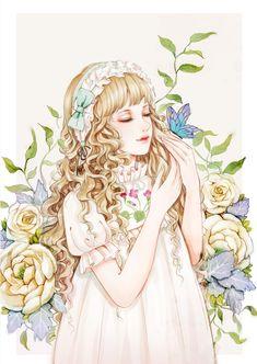 静静的-夜阑小米__涂鸦王国插画