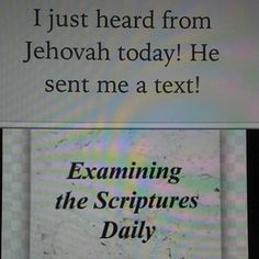 Read the Daily Text together and discuss.Why not look for an appropriate photo or comment to add below it? Jehovah S Witnesses, Jehovah Witness, Spiritual Thoughts, Spiritual Quotes, Spiritual Growth, Jw Jokes, Family Worship Night, Jw Humor, Biblia