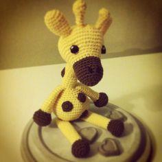 "Design and pattern from ""Svarta Fåret"" Amigurumi Giraffe Animal Kids Toys"
