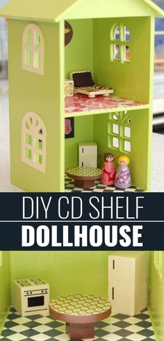 DIY Christmas Gifts for Kids - Homemade Christmas Presents for Children and Christmas Crafts for Kids | Toys,  Dress Up Clothes, Dolls and Fun Games |  Step by Step tutorials and instructions for cool gifts to make for boys and girls |  CD Shelf Doll House  |  http://diyjoy.com/diy-christmas-gifts-for-kids