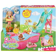 Barbie Flippin' Pup Pool! Play Set