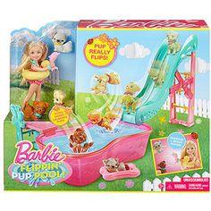Barbie Flippin' Pup Pool! Play Set