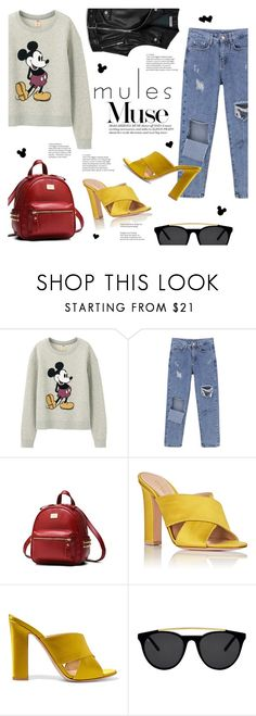 """""""Mules Muse"""" by lisalockhart ❤ liked on Polyvore featuring Uniqlo, Gianvito Rossi, Smoke x Mirrors and Mulberry"""