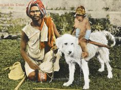 a-blind-monkey-trainer-with-his-small-dressed-monkey-who-rides-a-white-dog-india.jpg 400×300 pixels