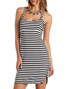 Zip Up Slit Striped Bodycon Dress http://thefashionjoe.tumblr.com/post/83023088905/zip-up-slit-striped-bodycon-dress