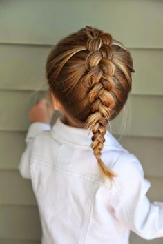 The Dutch Braid.  This braid is just like a French braid, but instead of crossing the outer sections OVER the middle one, you cross them UNDER the middle.  It creates a great 3D effect!  You can do this for any of the French braided styles I've shown you and so much more!