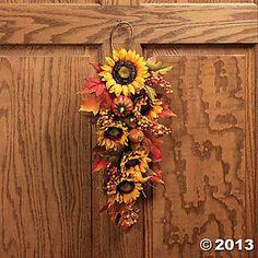Sunflower & Gourd Swag $15