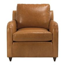 Greggy Leather Chair, Astor/Fawn From Ethan Allen
