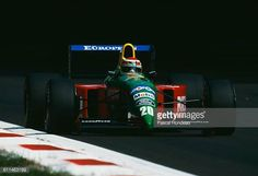 Nelson Piquet of Brazil drives the Benetton Formula Benetton B190 Ford V8 during practice for the Italian Grand Prix on 8 September 1990 at the...