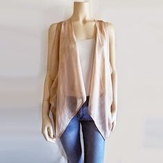 Runway Sewing: PROJECT #24 ~ CASUAL ROMANTIC ELEGANCE ~ DIY SILK VEST