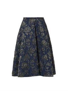 Floral-brocade midi skirt | Rochas | MATCHESFASHION.COM