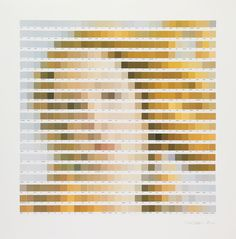 Nick Smith's Paramour collection sees the artist creating pixelated, colour chip-based artworks from portraits of Shakespeare, Venus and topless women.