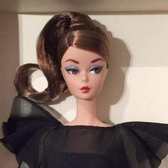 New! Barbie BFMC Classic Black Dress Silkstone Brunette Poseable ...