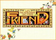 True Friends, Friends In Love, Best Friends, Mary Engelbreit, Easy Sewing Projects, Crochet Projects, Craft Projects, Friends Forever, Dear Friend