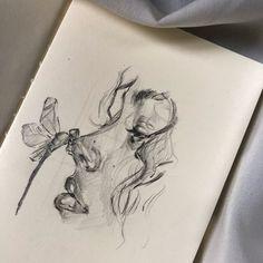 Art Drawings Sketches Simple, Pencil Art Drawings, Sketch Art, Arte Sketchbook, Diy Canvas Art, Pen Art, Portrait Art, Aesthetic Art, Cute Art