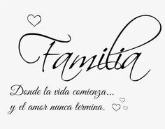 Pin by clarissa mejia on mom/dad/kids/family ❤ family quotes, family tattoo La Familia Tattoo, Family Quotes, Me Quotes, Tattoos Familie, Mr Wonderful, Family Tattoos, Small Tattoos, Lettering, Spanish Quotes