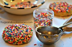 BETTER THAN A BAKERY - SPRINKLE COOKIES - Hugs and Cookies XOXO