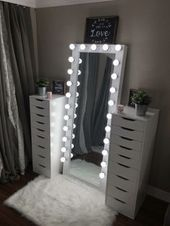 Full length beauty room mirror – You are in the right place about skincare art Here we offer you the most beautiful pictures about the skincare branding you are looking for. When you examine the Full length beauty room mirror – Bedroom Decor For Teen Girls, Cute Bedroom Ideas, Cute Room Decor, Girl Bedroom Designs, Room Ideas Bedroom, Teen Room Decor, Teen Room Designs, Cute Teen Rooms, Teenage Girl Bedrooms