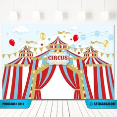 This item is unavailable Carnival Themed Party, Carnival Birthday Parties, Carnival Themes, First Birthday Parties, Birthday Party Themes, First Birthdays, Carnival Costumes, Circus Party Decorations, Banner Backdrop