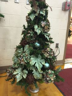 Teal and brown Tree