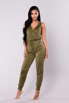 9b2c19e767f Tough Chick Surplice Jumpsuit - Olive. Fashion Nova ...