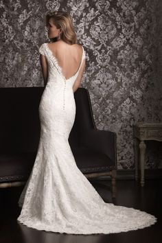 2013 Wedding Dresses A Line Trumpet/Mermaid Scoop Court Train With Lace