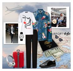 """""""Airport Style"""" by bloomy53 on Polyvore featuring Yves Saint Laurent, Acne Studios, Dsquared2, Rosendahl, Tommy Hilfiger, Witchery, JFK, Beats by Dr. Dre, contest and fashionset"""