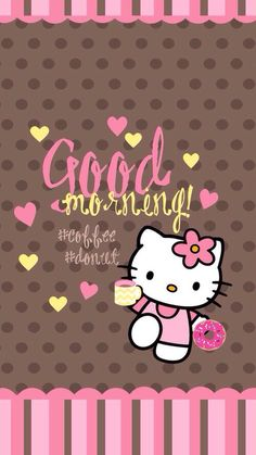 Hello Kitty ~ Good Morning! #Coffee#Donut
