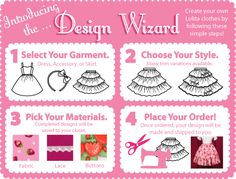 Design your own lolita outfit...most of the time for cheaper than pro stores! And you can share designs! :D