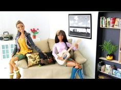 How to Make a Doll Sofa 3 - YouTube - I really like this one, although a wooden base would make it a lot sturdier.