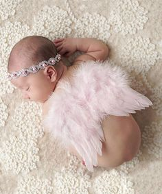 Look what I found on #zulily! Pink Rhinestone Pearl Headband & Angel Wings - Infant #zulilyfinds