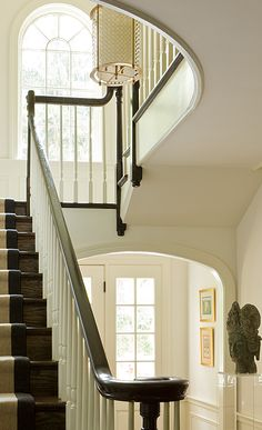 Anne Decker Architects - thinking of the beautiful house that surrounds the staircase Foyer Staircase, Entry Stairs, Entry Hallway, Entryway, Interior Stairs, Interior And Exterior, Luxury Interior Design, Architect Design, Beautiful Interiors