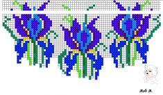 Beaded beads tutorials and patterns, beaded jewelry patterns, wzory bizuterii koralikowej, bizuteria z koralikow - wzory i tutoriale Seed Bead Patterns, Beaded Jewelry Patterns, Peyote Patterns, Beading Patterns, Stitch Patterns, Beadwork Designs, Tapestry Crochet, Bead Loom Bracelets, Bead Crochet