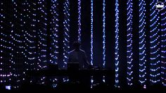 This performance by Four Tet uses a similar LED matrix to Purity Ring, I suspect they used the same production company. In the same way audio from the performance informs the lights. What makes this mesmerising however is the depth of the LEDs in the matrix. This spatialisation and the scale makes visual sense strong, making the electronic musical performance more engaging.