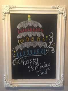 Happy birthday chalkboard, Buying new indisputable fact that everyone in your household will enjoy doing together outside? Chalkboard Doodles, Chalkboard Art Quotes, Blackboard Art, Chalkboard Writing, Kitchen Chalkboard, Chalkboard Decor, Chalkboard Drawings, Chalkboard Lettering, Chalkboard Designs