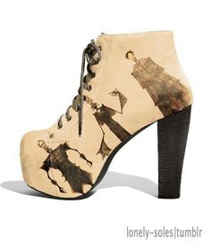 Harry Potter shoes The Deathly Hallows cool Mode Harry Potter, Harry Potter Shoes, Harry Potter Style, Harry Potter Wedding, Harry Potter Outfits, High Heel Boots, Bootie Boots, Shoe Boots, High Heels