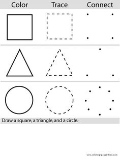 Shapes for kids worksheets preschool color worksheets color page education school coloring pages color plate coloring Color Worksheets For Preschool, Preschool Colors, Preschool Lessons, Preschool Kindergarten, Preschool Learning, Learning Activities, Preschool Activities, Shapes Worksheets, Toddler Worksheets