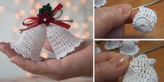 Crochet Patterns Christmas Yet another Christmas tutorial is available for our readers. Today we ae going t. Crochet Snowflake Pattern, Crochet Snowflakes, Christmas Crochet Patterns, Crochet Christmas, Christmas Knitting, Christmas Projects, Yarn Crafts, Holiday Crafts, Bubble