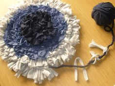 Another way of making a round rag rug.