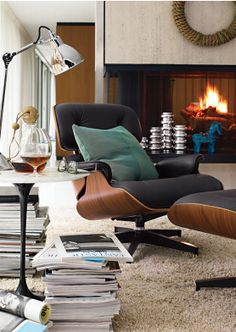 magazines and books + eames