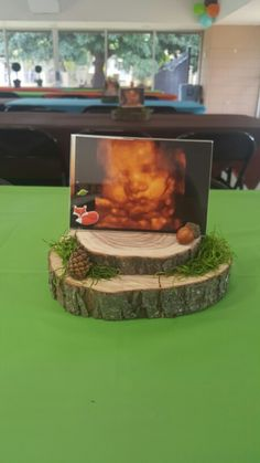 Forest friends baby shower.  Centerpiece