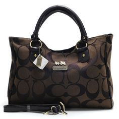 Coach Legacy In Signature Large Coffee Satchels ACD #Outlet #Sale | See more about coach legacy, coffee and coaches.