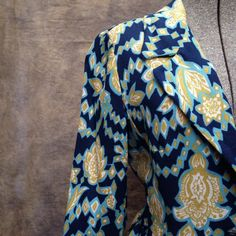 Vintage 1960's Mod Paisley Print Dress Jacket. Women's Size Medium. Fully lined, fake pockets, best colors ever. Perfect for some stylish fall days.