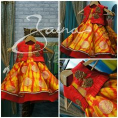 Baby Lehenga, Kids Lehenga, Kids Dress Wear, Kids Wear, Lehanga For Kids, Kids Blouse Designs, Kids Ethnic Wear, Kids Dress Patterns, Kids Frocks