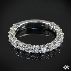 18K white gold diamond wedding ring for women