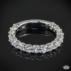 18K white gold diamond wedding ring for women