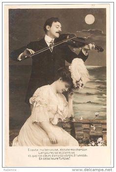"POSTCARD ""Music of love"" France."